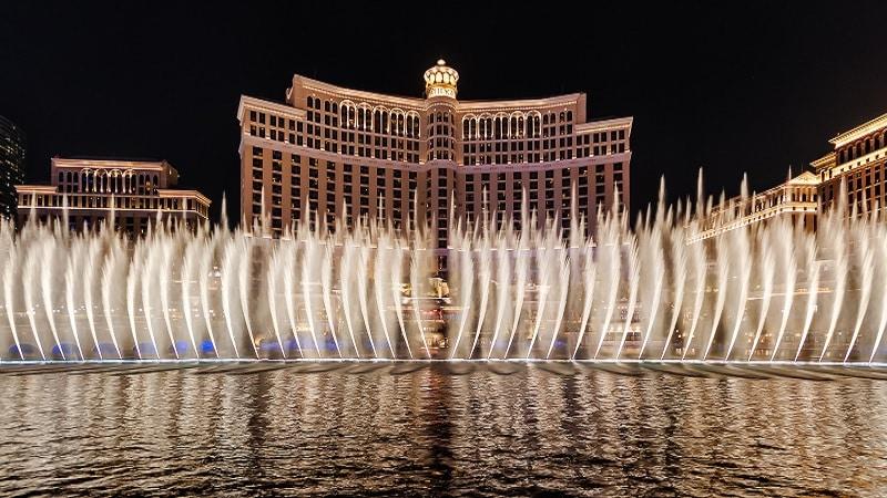 Show das águas do Bellagio em Las Vegas