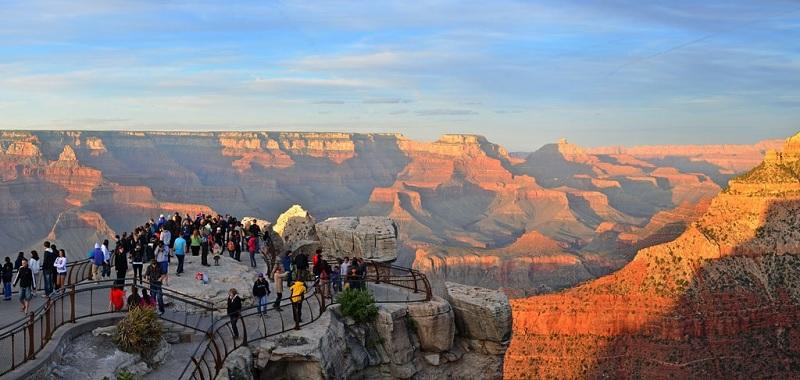 Visitantes no Grand Canyon em Las Vegas