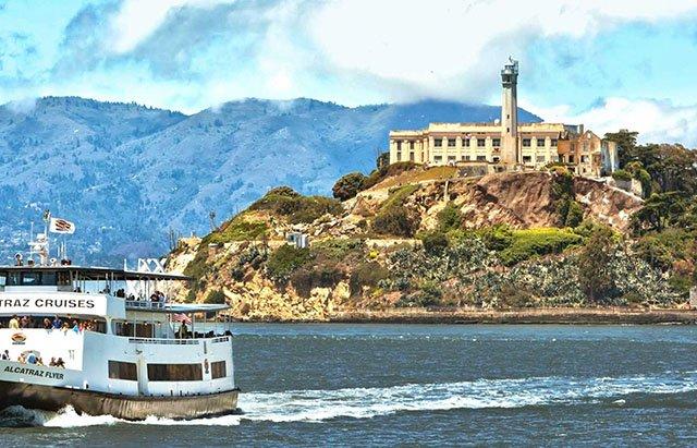 Ilha de Alcatraz em San Francisco na Califórnia