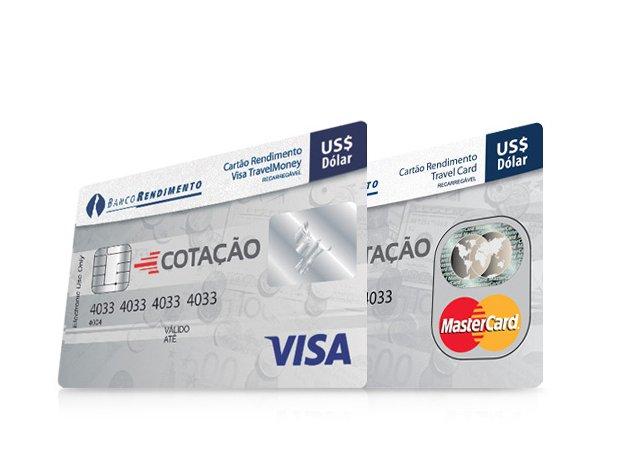 Cartão Travel Money Internacional da Confidence