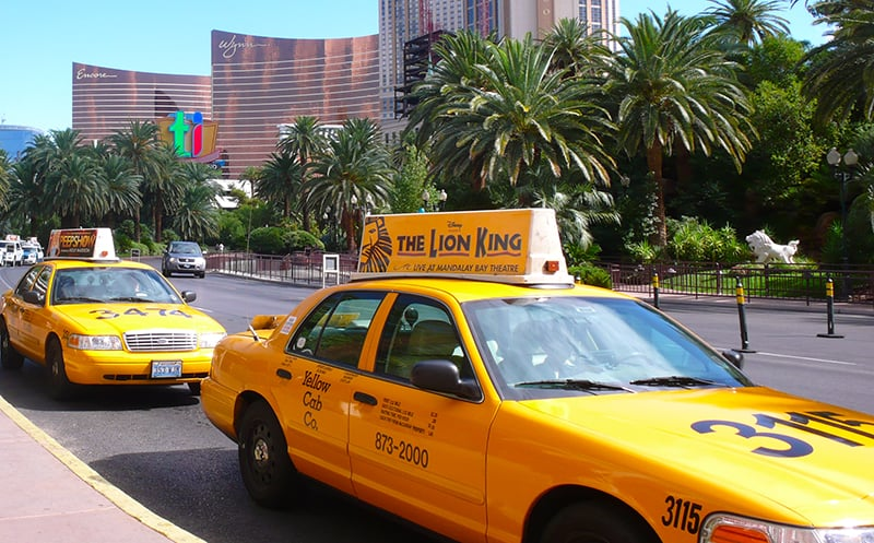 Táxi em Las Vegas