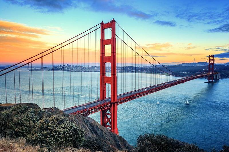Ponte Golden Gate em San Francisco na Califórnia