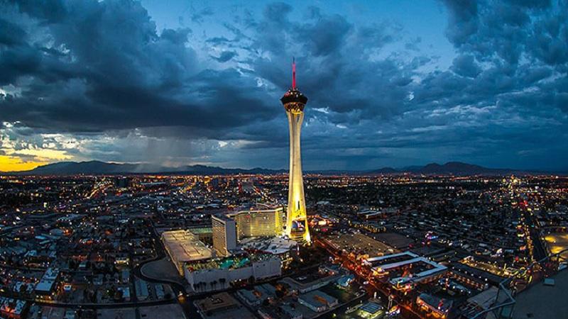 Vista da cidade de Las Vegas
