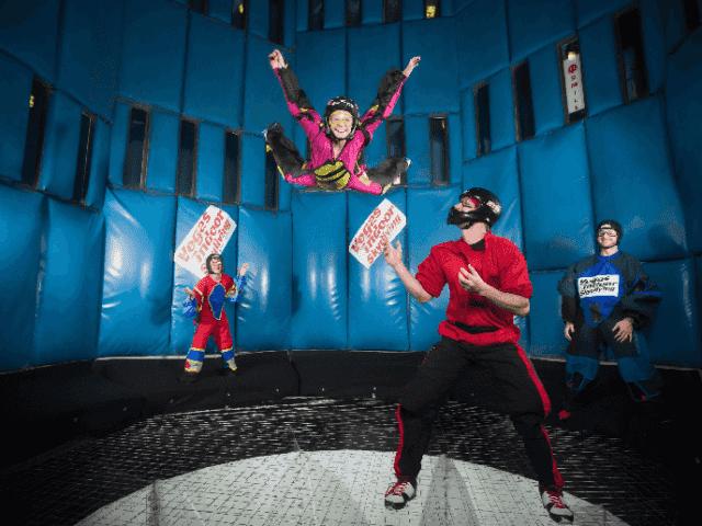 Simulador de paraquedas Las Vegas Indoor Skydiving