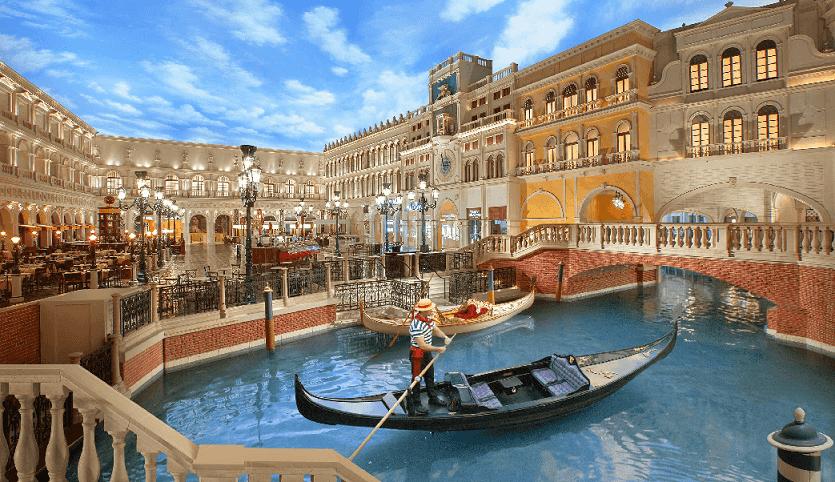 Gôndola do Venetian em Las Vegas
