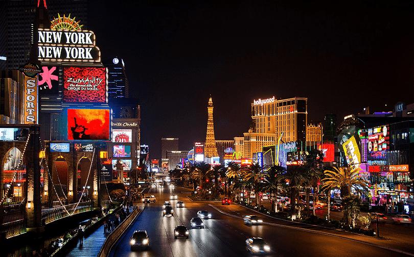 Rua em Las Vegas
