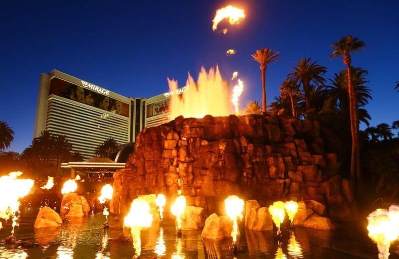 Show do Vulcão Mirage em Las Vegas