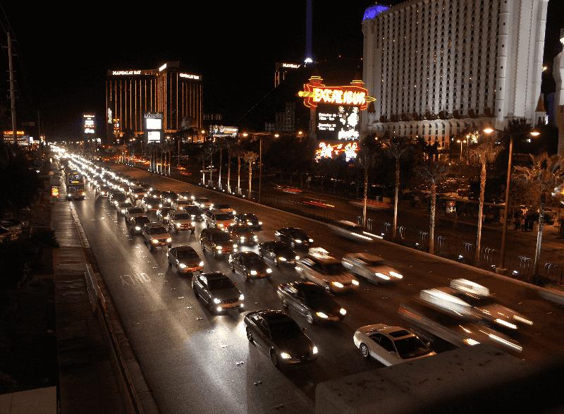 Trânsito em Las Vegas