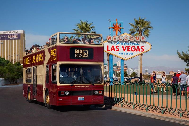 Ônibus turístico em Las Vegas
