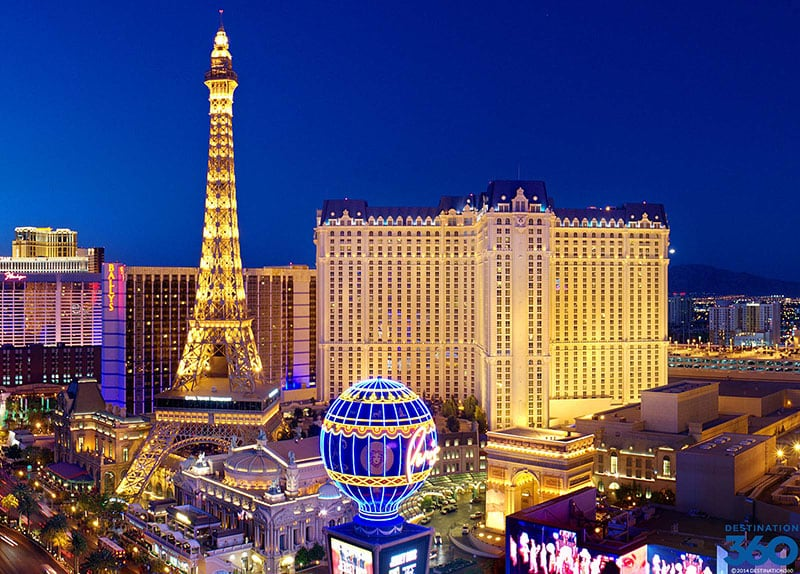 Las Vegas Strip à noite em Las Vegas