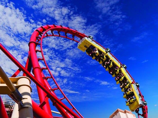 Montanha Russa Big Apple Coaster Arcade em Las Vegas