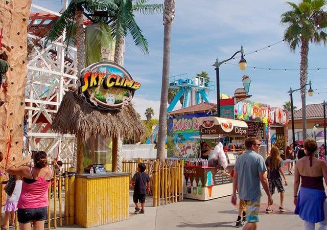 Parque de diversão Belmont Park em San Diego na Califórnia