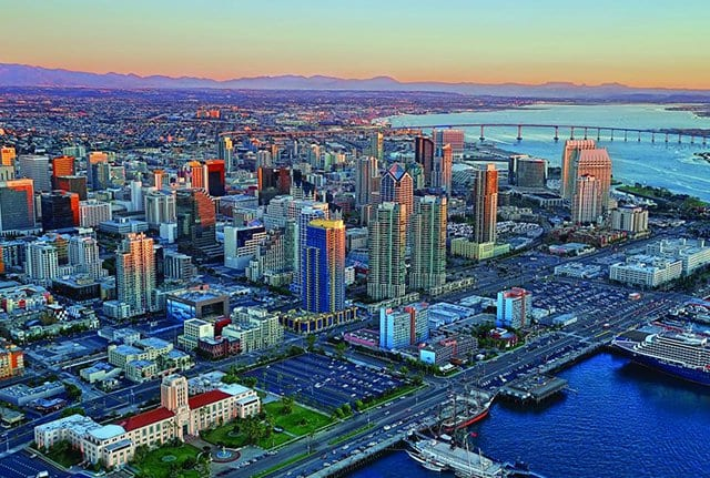 Pontos turísticos em San Diego na Califórnia