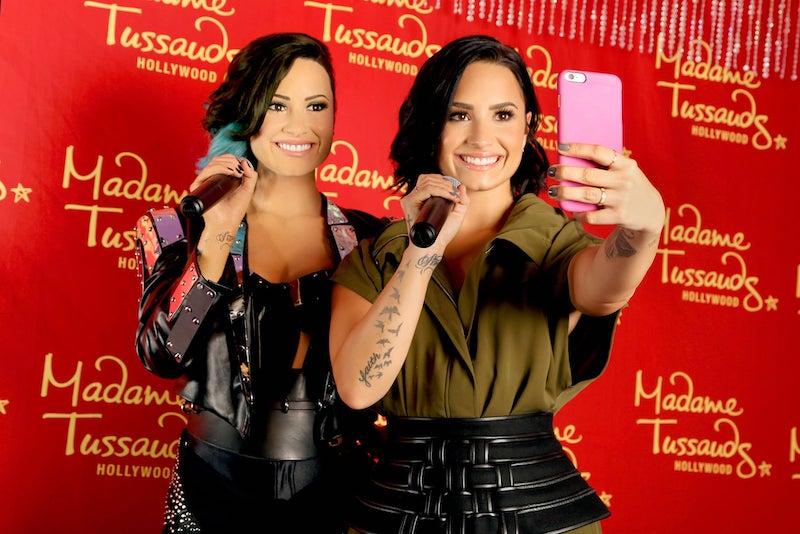 Foto da Demi Lovato no Madame Tussauds em Las Vegas