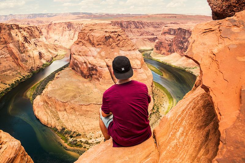Turista no Grand Canyon em Las Vegas