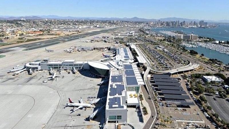 Como ir do aeroporto de San Diego para o centro